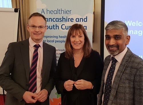 Andrew Bennett, Dr Amanda Doyle and Dr Sakthi Karunanith launch the accelerated programme for Population Health Management